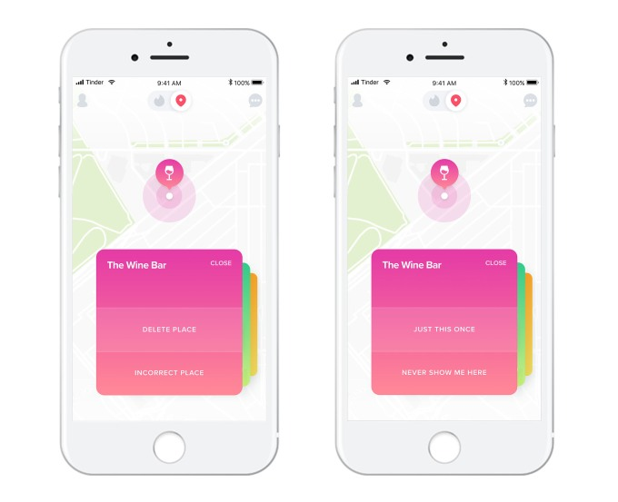 Tinder Places tracks your location to help you find matches