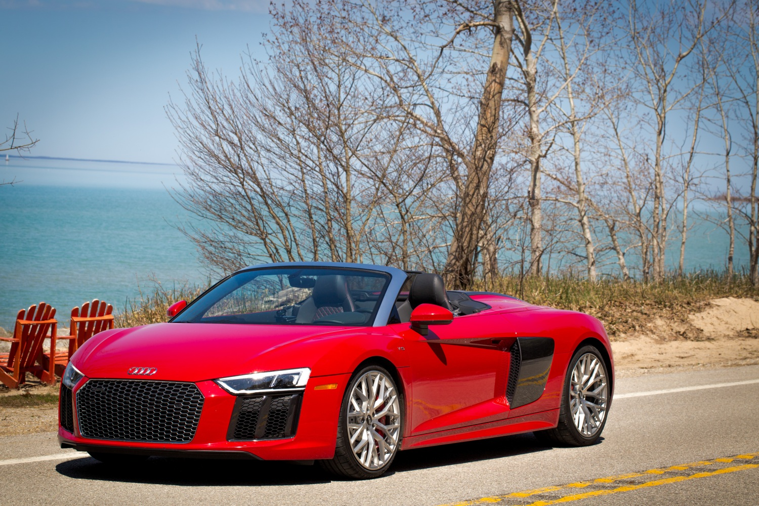 Review A Week In An Audi R Spyder An Everyday Supercar TechCrunch - Red audi r8