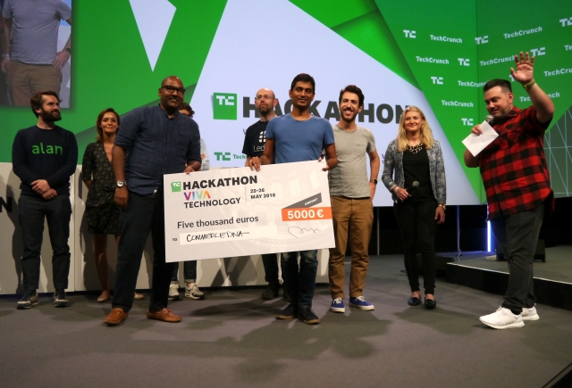 CommerceDNA wins the TechCrunch Hackathon at VivaTech
