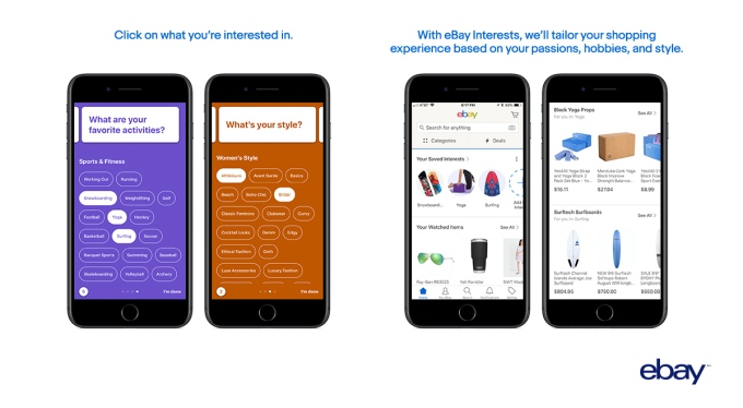 With its new 'Interests' feature, eBay again tries to personalize its marketplace