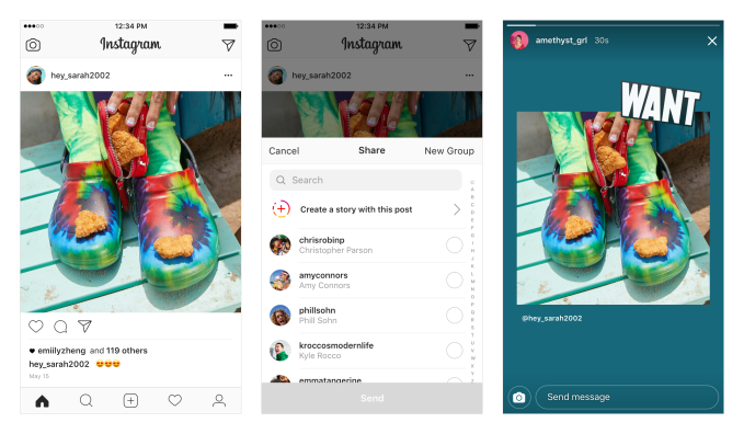Instagram officially launches re-sharing of posts to Stories