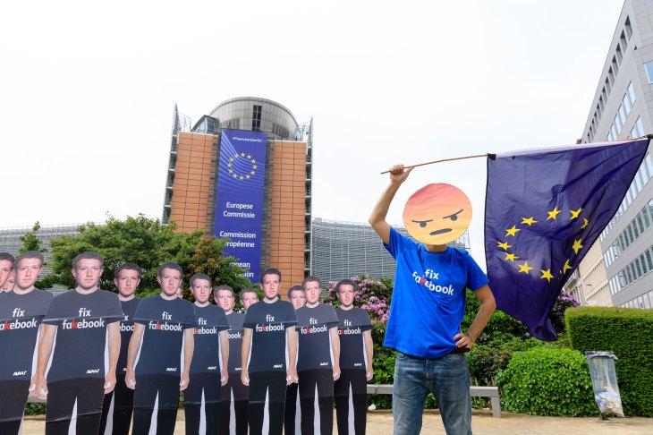 Anti-Facebook demonstration