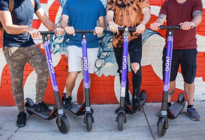 GOAT launches electric scooters in Austin