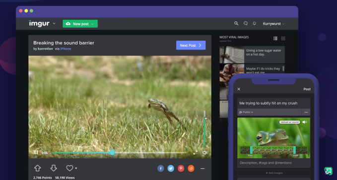 GIF lord Imgur caves to video to hasten profitability imgur video desktop mobile