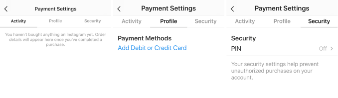 Instagram quietly launches payments for commerce