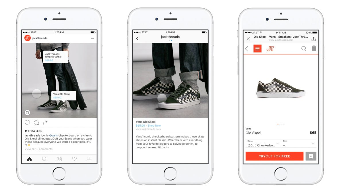 Instagram's existing Shoppable Tags feature forces you out to a business' website to make a purchase unlike the new payments feature
