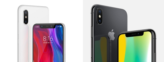 Xiaomi's Mi 8 may be its most brazen iPhone copycat yet