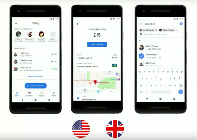 Google Pay's app adds boarding passes, tickets, p2p payments and more