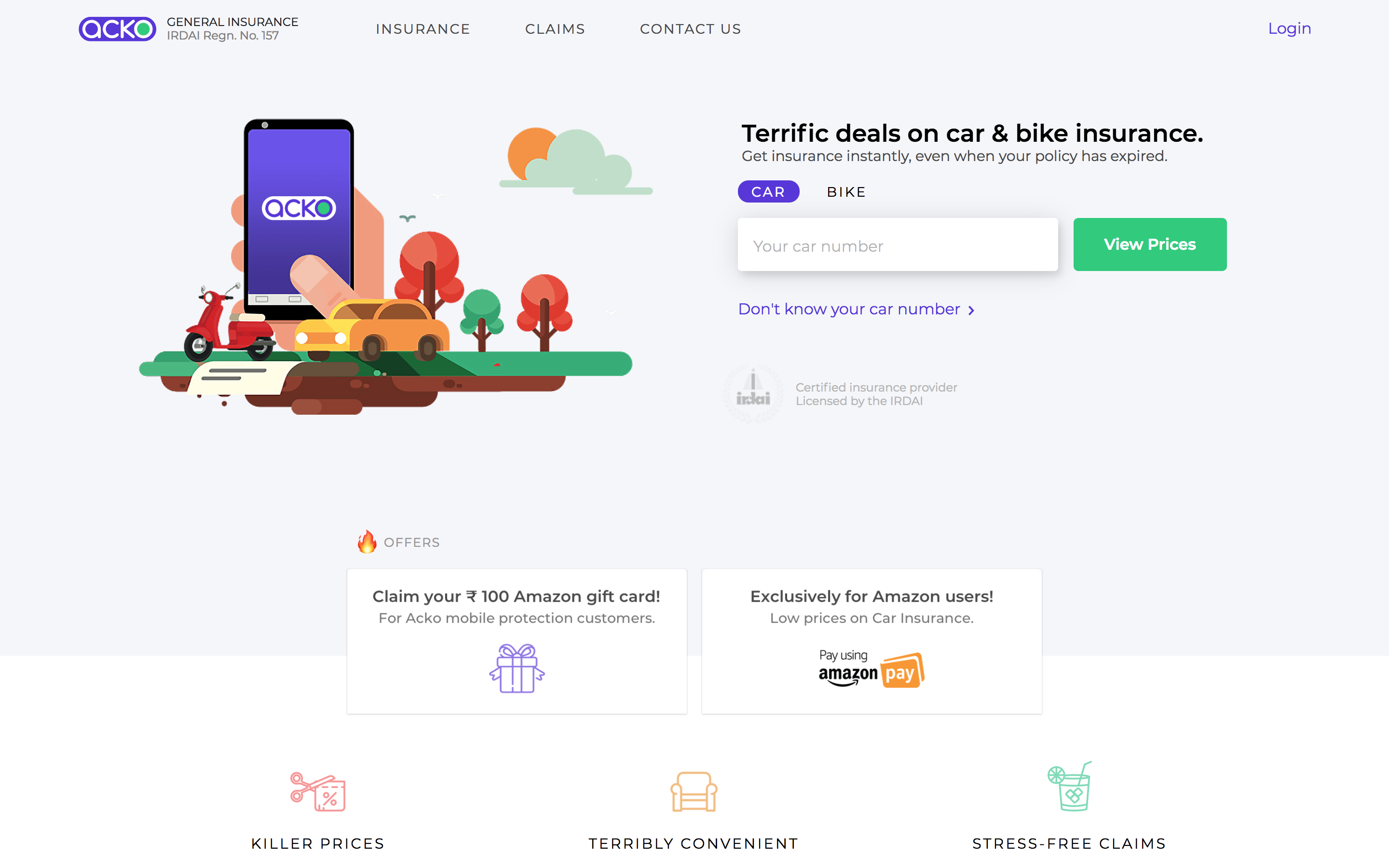 Amazon leads $12M investment in India-based digital insurance startup Acko screenshot 2018 05 27 14 31 38