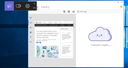 Microsoft's Snip Insights puts A I  technology into a screenshot