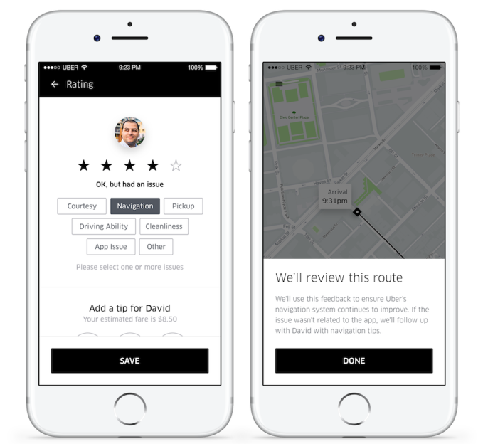 uber mid trip rides - Uber lets you rate mid-ride before you forget feedback – TechCrunch