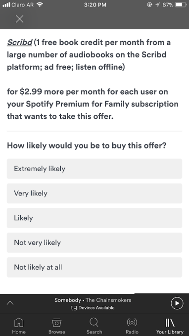 Spotify tests consumer interest in a bundle with both Hulu and Scribd's audiobooks unnamed 16