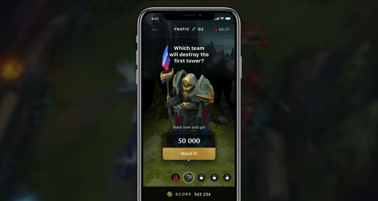 WARD is an app for placing fantasy bets on esports games