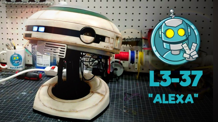 Build your own L3-37 droid complete with voice interaction
