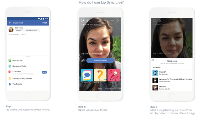 Facebook allows videos with copyrighted music, tests Lip