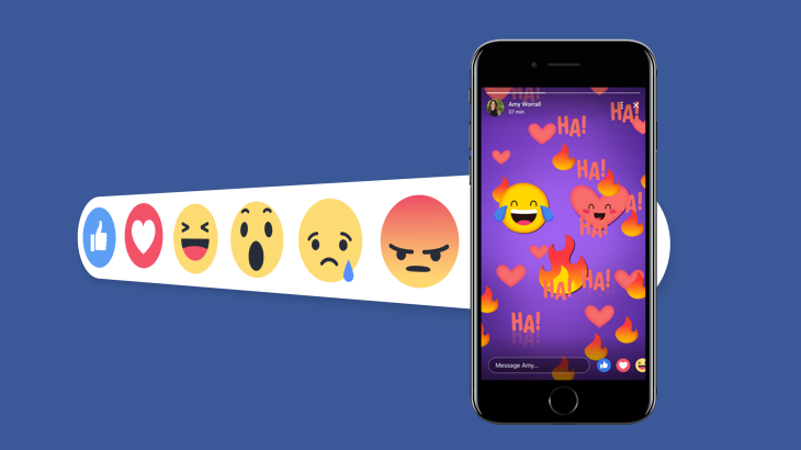 Facebook makes Stories another Like contest with emoji reactions