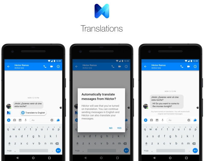 Fb Messenger auto-translation chips at US/Mexico language wall