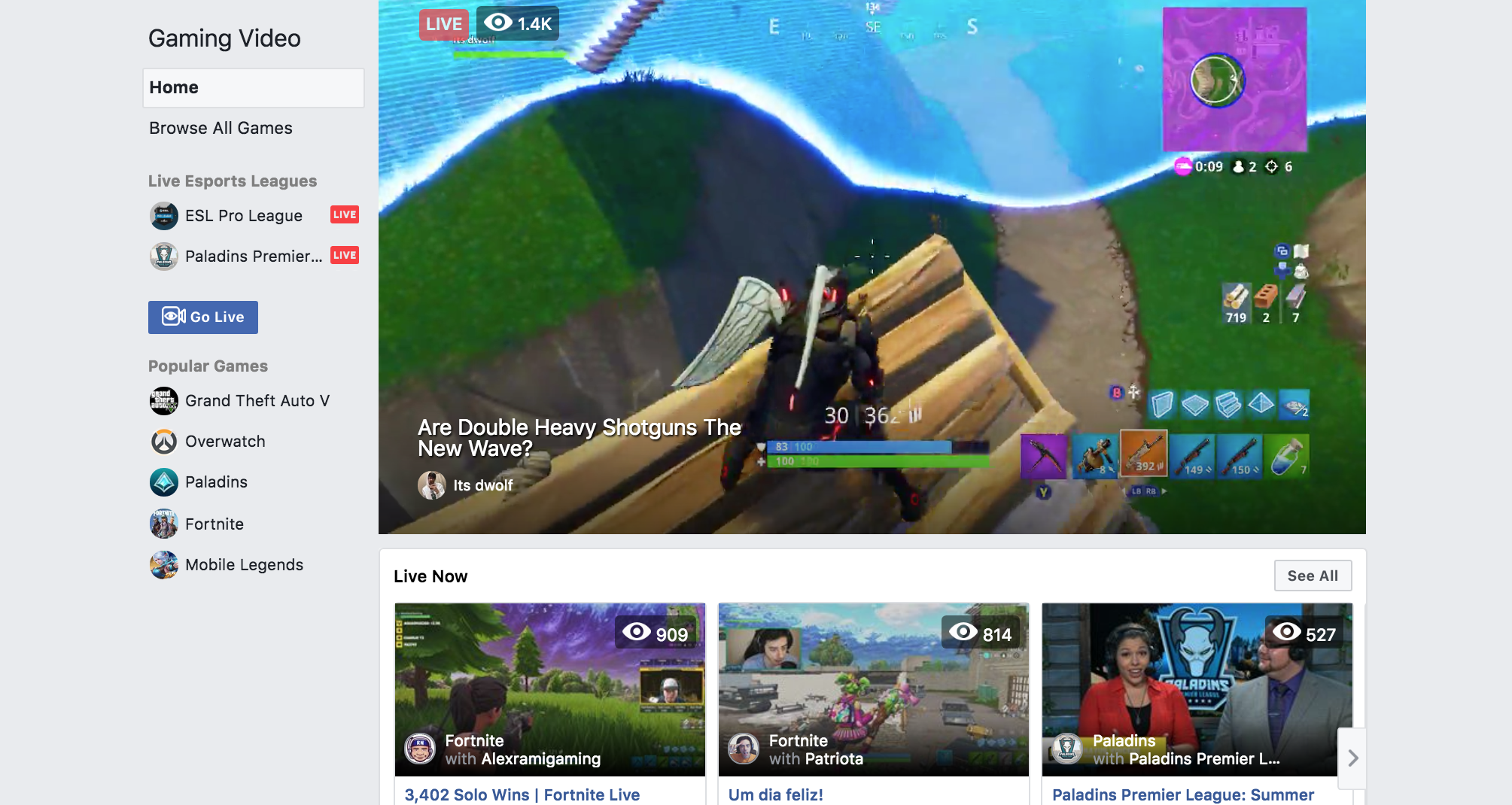 Facebook aims to attract Fortnite generation with video game streaming service