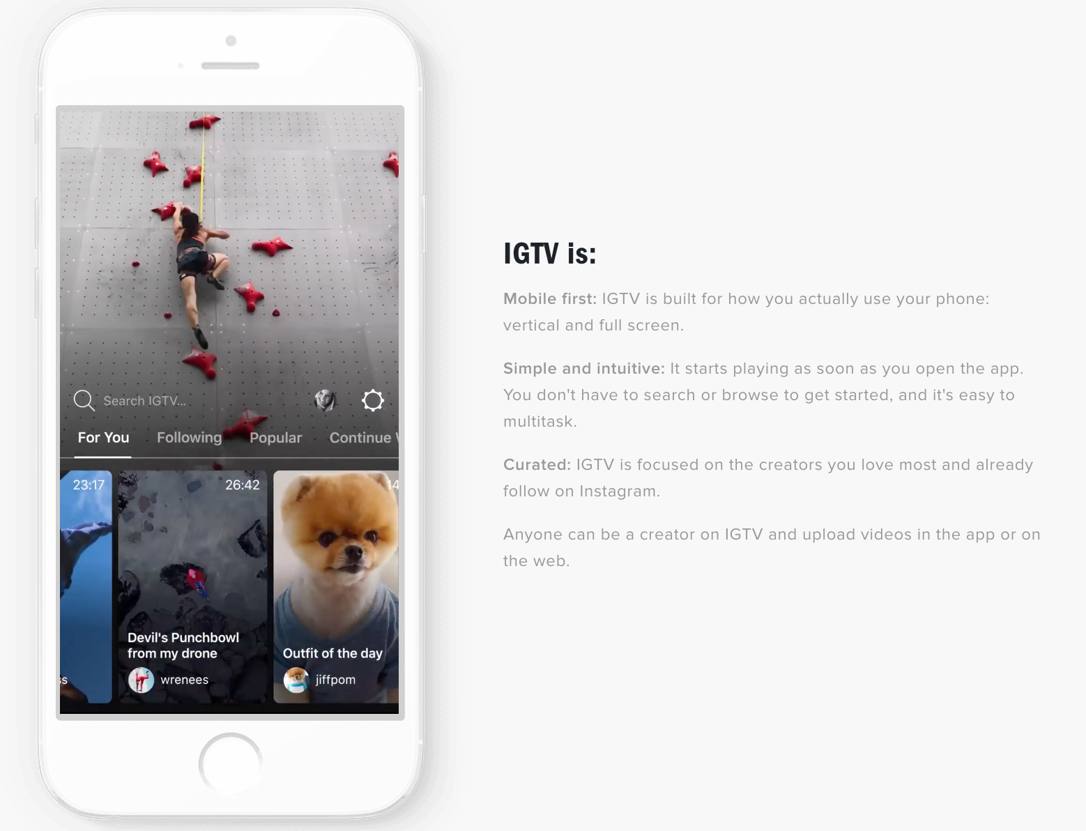 Instagram takes on YouTube with new video-centric IGTV app