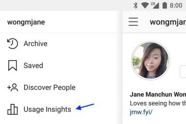 First look at Instagram's self-policing Time Well Spent tool Instagram Usage Insights Menu
