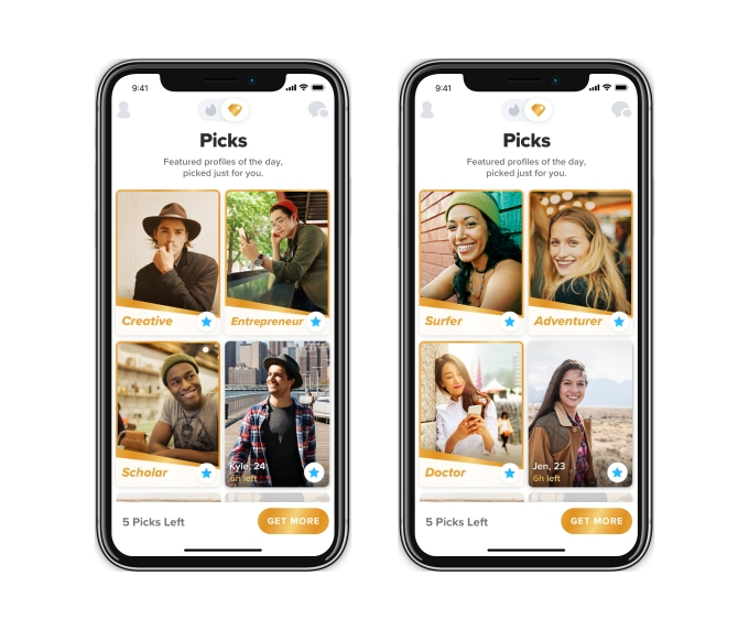 Tinder launches its curated 'Top Picks' feature worldwide