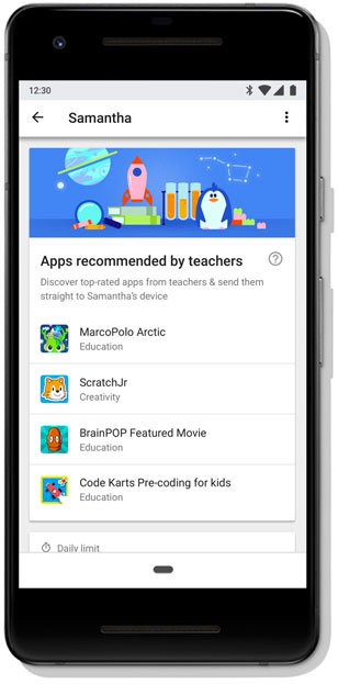 Google's Family Link software now recommends 'teacher-approved' apps