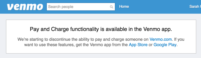 Venmo is discontinuing web support for payments and more