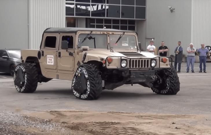 DARPA design shifts round wheels to triangular tracks in a