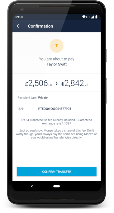 Fintech friends: Monzo partners with TransferWise for international payments Screenshot 20180623 135845 framed
