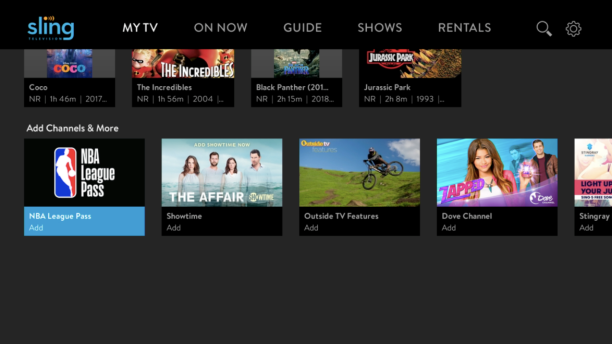 Sling TV Launches A La Carte Channel Options and Free Content Selection