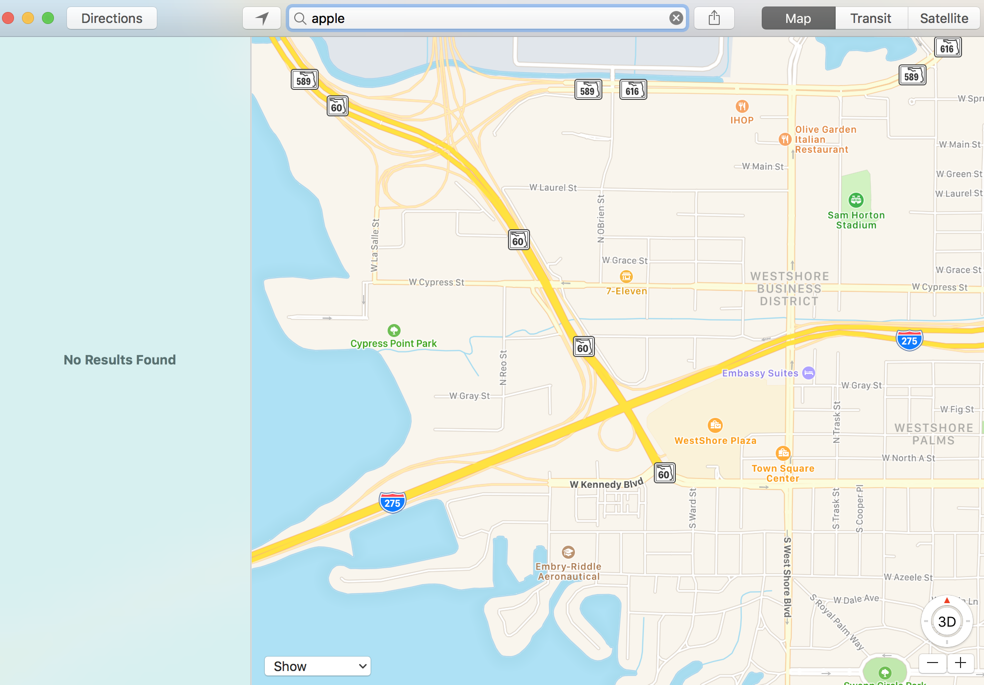 Huge Apple Maps outage prevents all users from searching, getting directions
