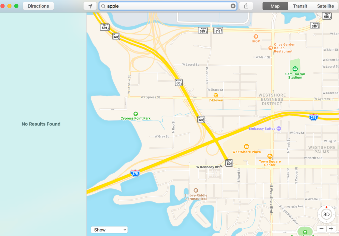 apple maps not working