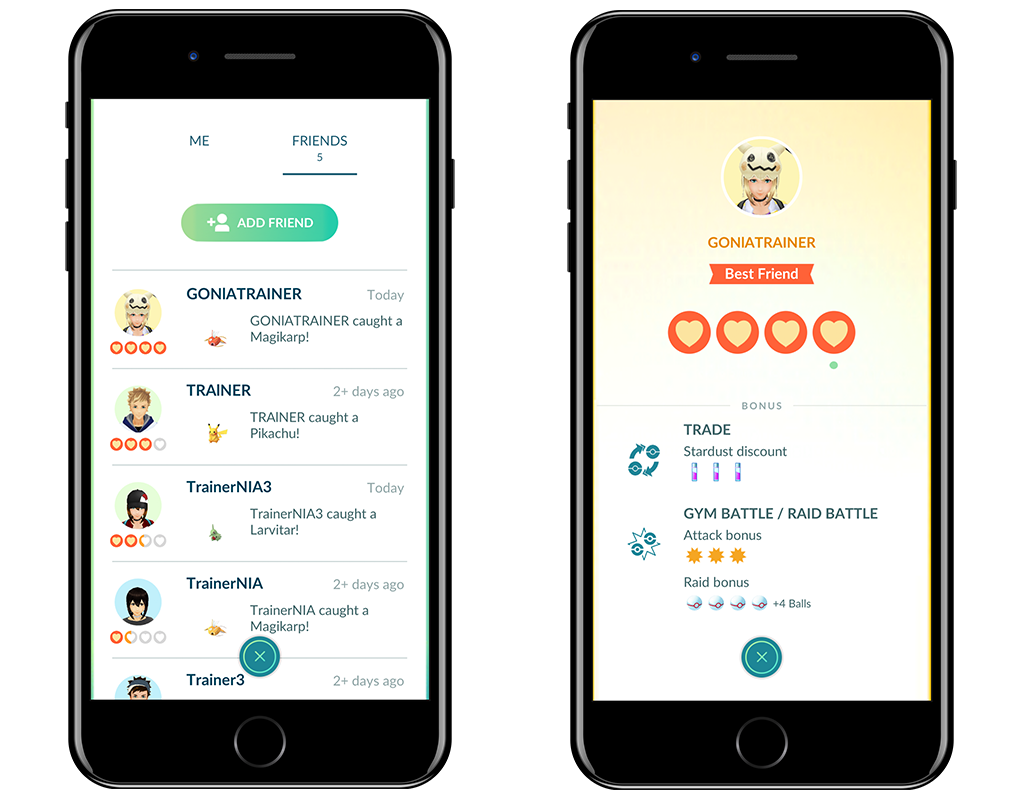 Pokemon GO is getting friends and trading