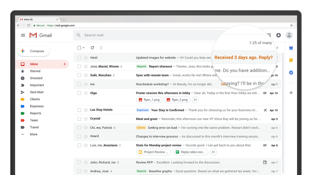 The new Gmail will roll out to all users next month
