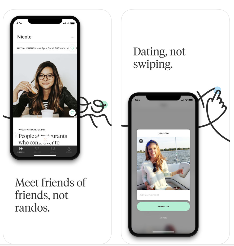 hinge dating app symbols