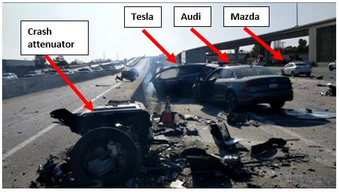 Tesla Model X in California crash sped up prior to impact