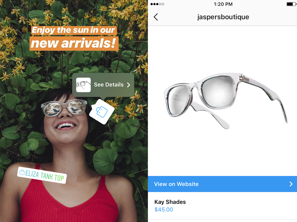 Image result for shoppable stories tag instagram