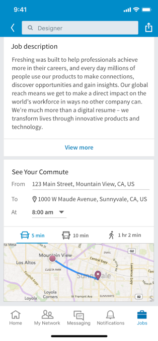 LinkedIn debuts Your Commute, navigation and maps to evaluate jobs based on how far they are