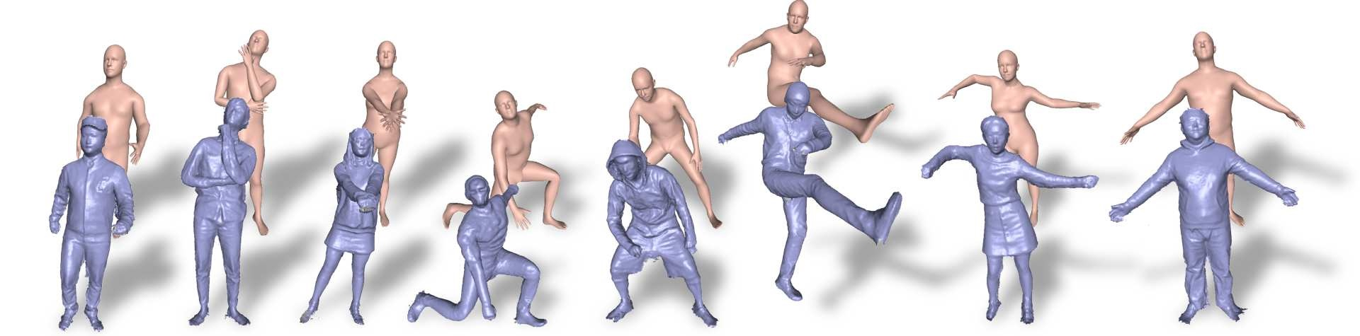 What's under those clothes? This system tracks body shapes in real time models