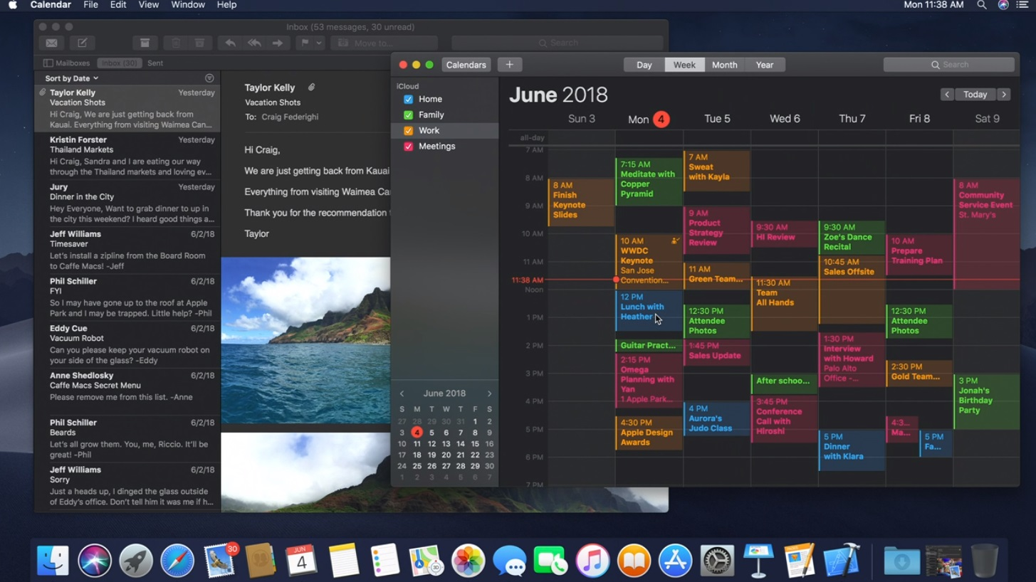 Techmeme: Apple announces macOS Mojave with dark mode