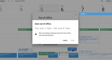 Google Calendar gets an 'Out of Office' mode | TechCrunch