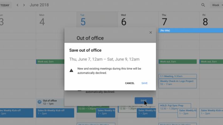 Google Calendar Vacation Responder