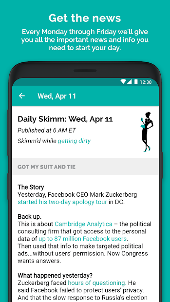 TheSkimm brings its news service to Android skimm news