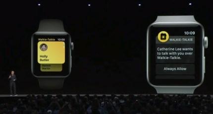 apple watch walkie talkie app