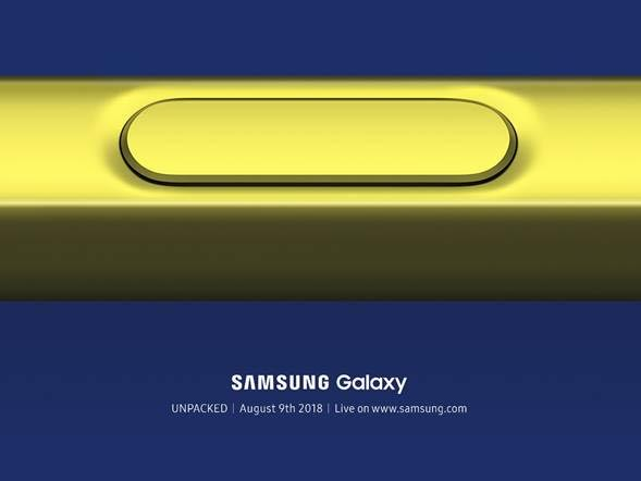 Samsung sets a date for Galaxy Note 9 reveal