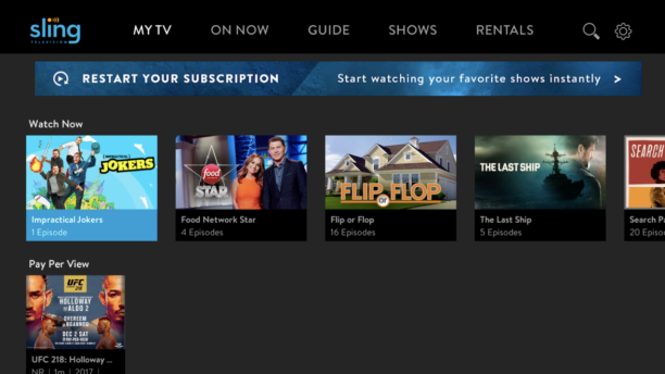 Sling TV Adds Free Tier, A La Carte Channels For Purchase 06/29/2018