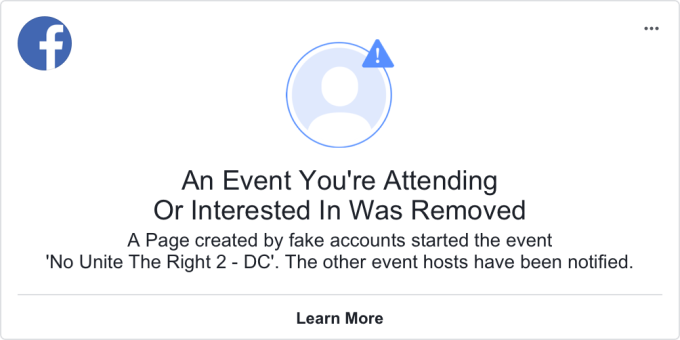 Activists push back on Facebook's decision to remove a DC protest event