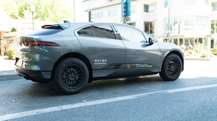 photo image Waymo-branded Jaguar I-Pace vehicles hit the streets of San Francisco