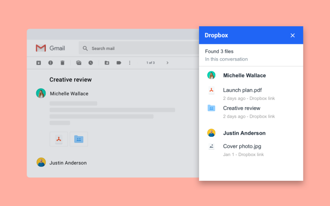 Dropbox add-on makes it easier to manage Gmail attachments