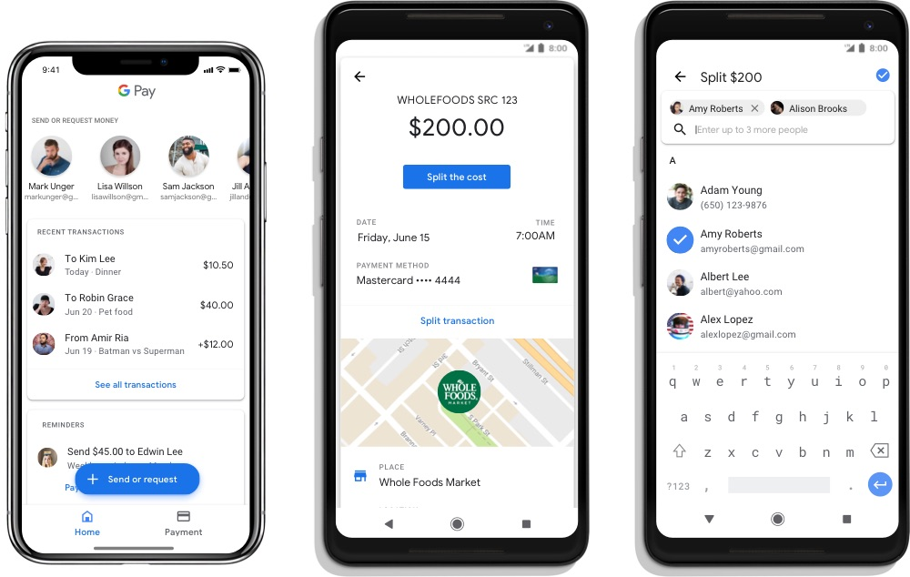 Google Pay now supports peer-to-peer payments and mobile tickets